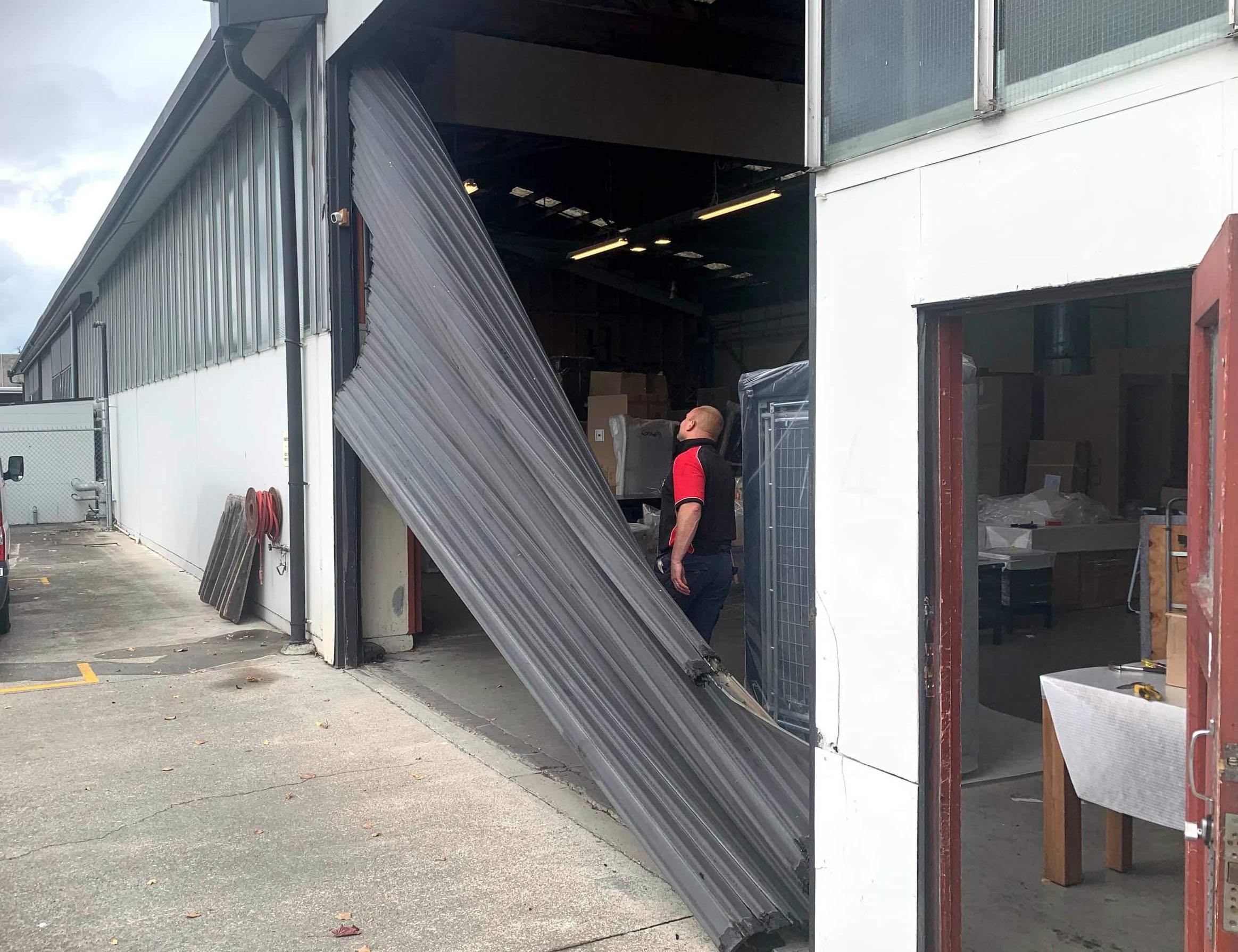 Damaged Roller Door