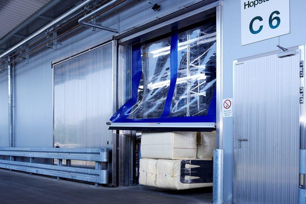 forklift drove into industrial door